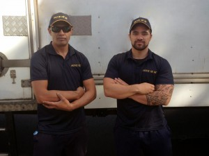 Owner Doyle Harris (left) and his off sider Ford Puhia (right) are both from Taranaki, New Zealand. They met while working for a previous removal company and have since started working together for MOVE US IN.